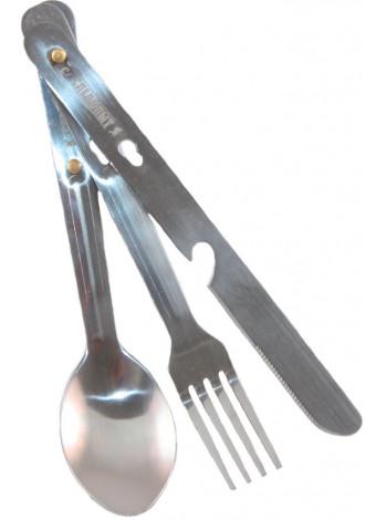 Набор приборов СЛЕДОПЫТ нержавейка (ложка, вилка, нож)