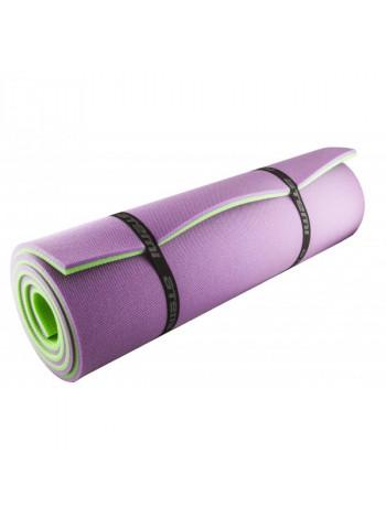 Коврик туристический двухслойный Atemi 1800*600*12мм, зеленый/фиолетовый