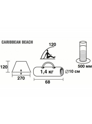 Тент Trek Planet Caribbean Beach