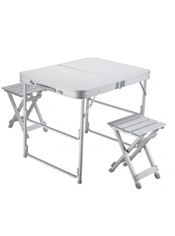 Стол складной Norfin BOREN NF Alu 80x60 +2 стула